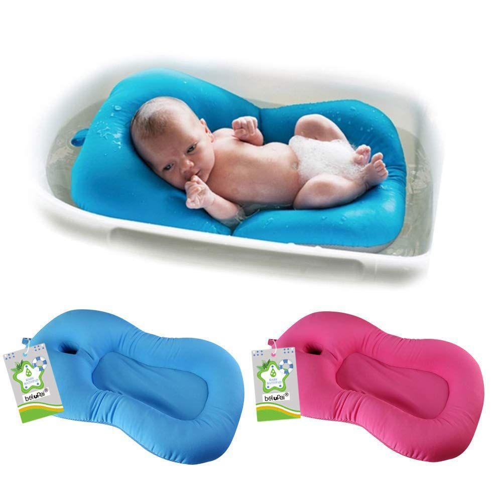 Belupai Alfombrilla De Baño Para Bebé Recién Nacido Plegable Para Bañera Asiento De Bañera Y Asie Alfombras De Baño Bebe Azul Bebes Recien Nacidos