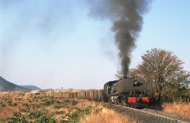 Garrett Steam Loco, remember travelling many time from Wankie to Bulawayo and back being pulled by these steam locomotives back in the 70's and 80's