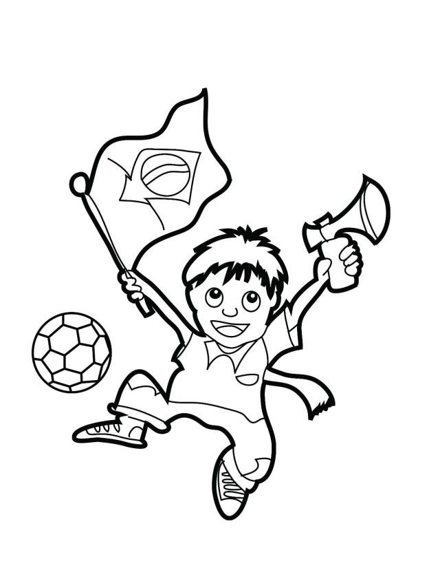 Brazil Flag 2014 Coloring Pages For Kids Coloring Pages Free