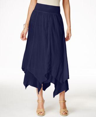 Style & Co. Handkerchief-Hem Skirt, Only at Macy's - Skirts - Women - Macy's