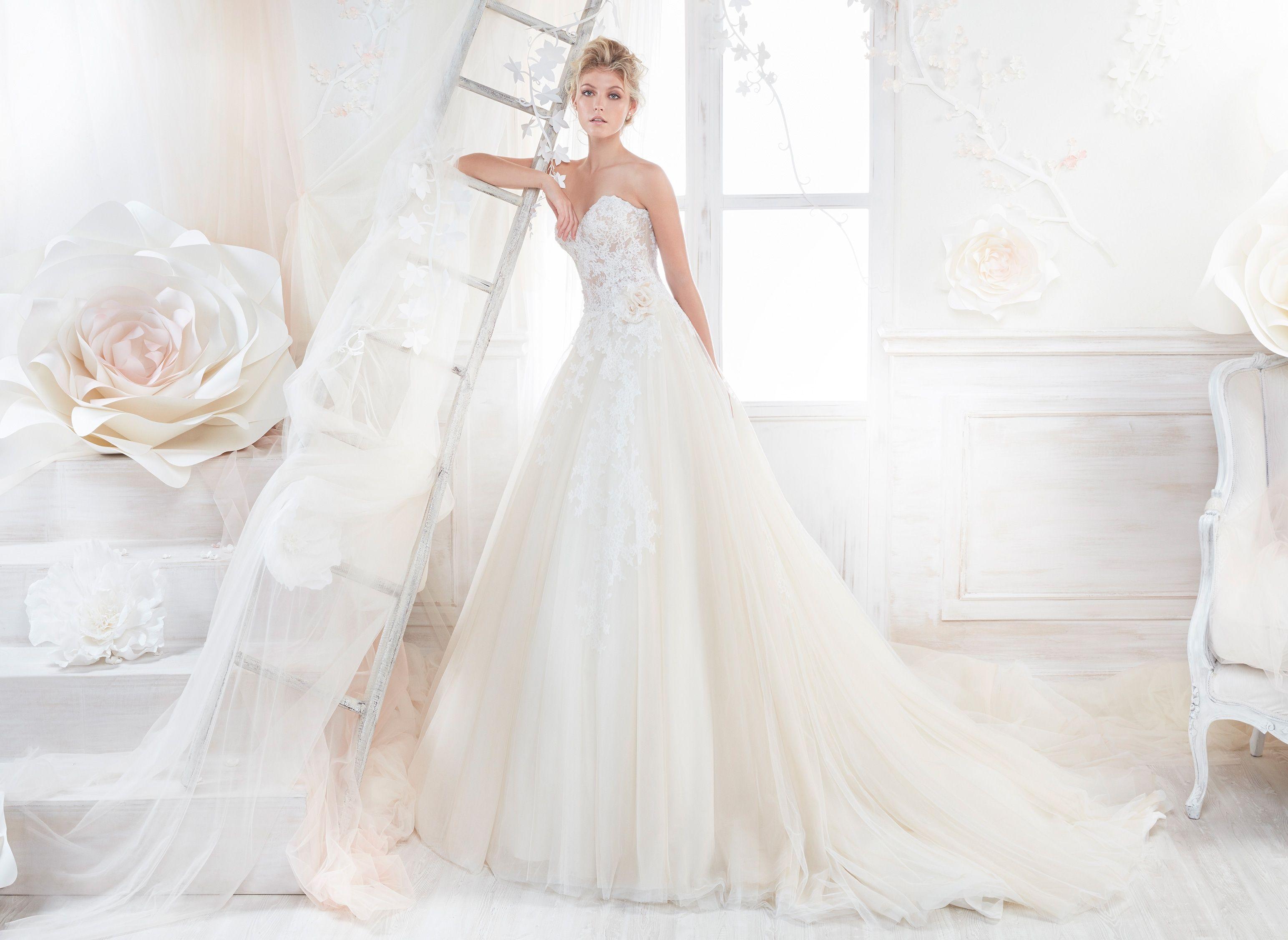 Moda Sposa 2018 Collezione Colet Coab18250 Abito Da Sposa Nicole Abiti Da Sposa Sposa Stile Di Moda