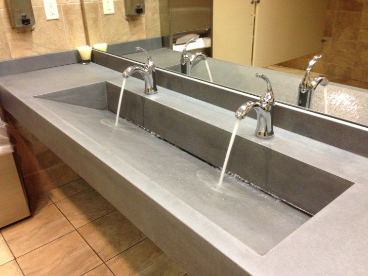 Concrete Restroom Sinks And Counters Sink Trendy