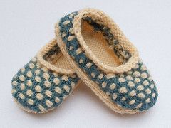 Petit Chou Slippers pattern by Caroline Hegwer