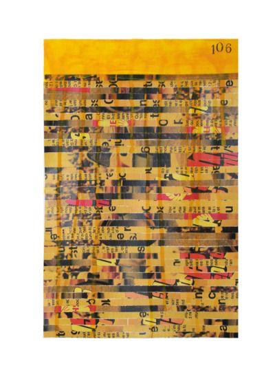 Numéro 106   Yellowchrome Peinture, crayon bic, crayon papier, bombe - bombe de peinture aluminium