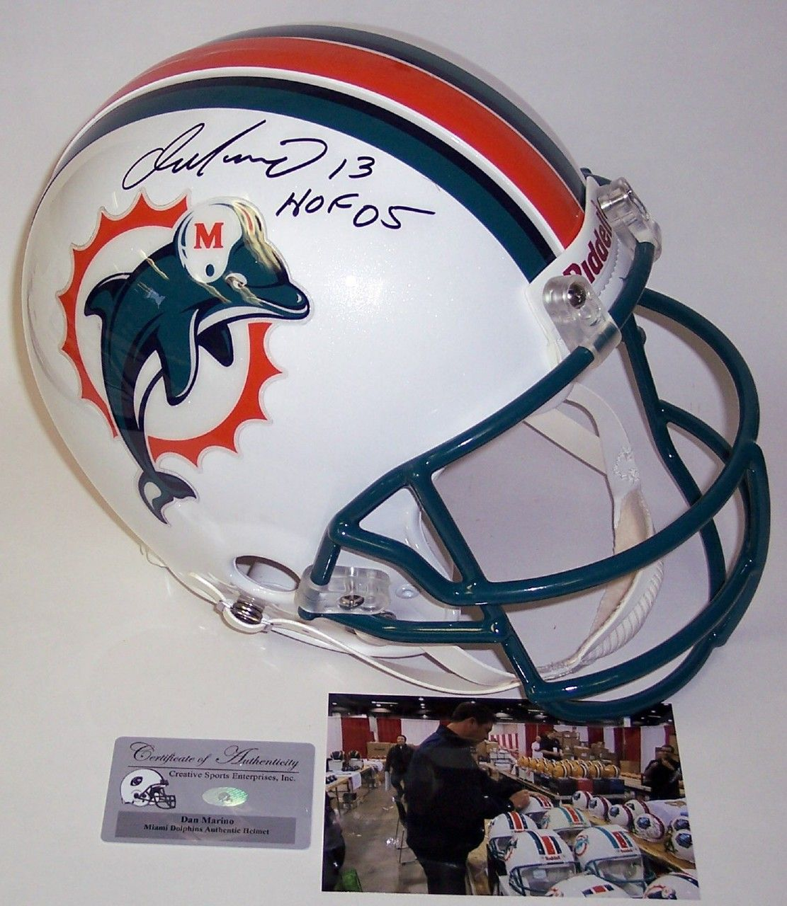 Dan marino autographed hand signed miami dolphins