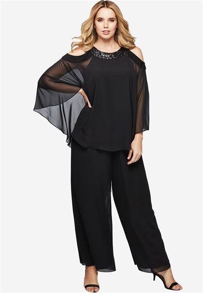 Cold Shoulder Pantset | Plus Size Special Occasion Dresses ...