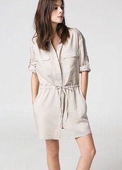 6e008c7fb Vestido camisero- Camisetas y tops - Mujer - MANGO