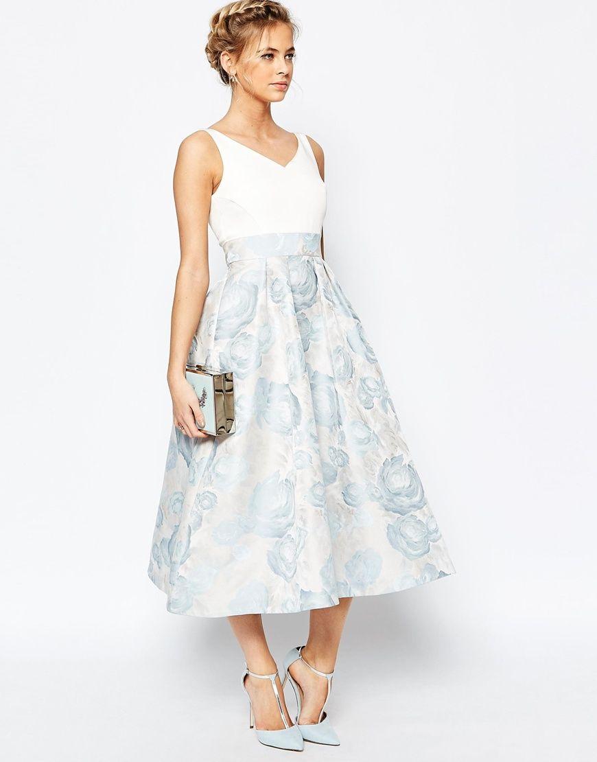 Image 1 of Coast Alessia Midi Dress in Pale Blue   Dresses   Pinterest