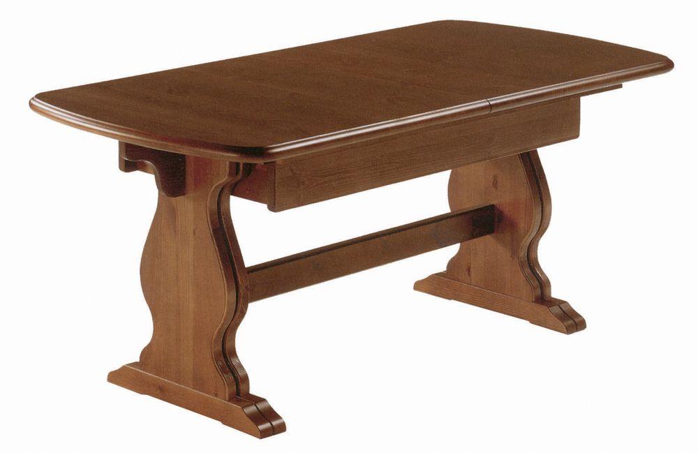 Tavolo rustico allungabile da 190 a 370 in legno massiccio di pino ...
