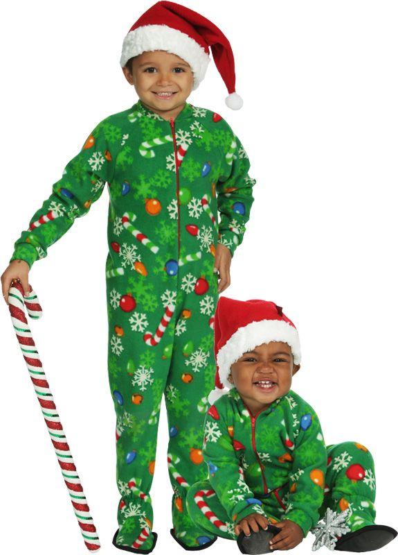 5a53835773ec Snug As A Bug Kids Snowflake Glow-in-the-Dark Footed Pajama ...