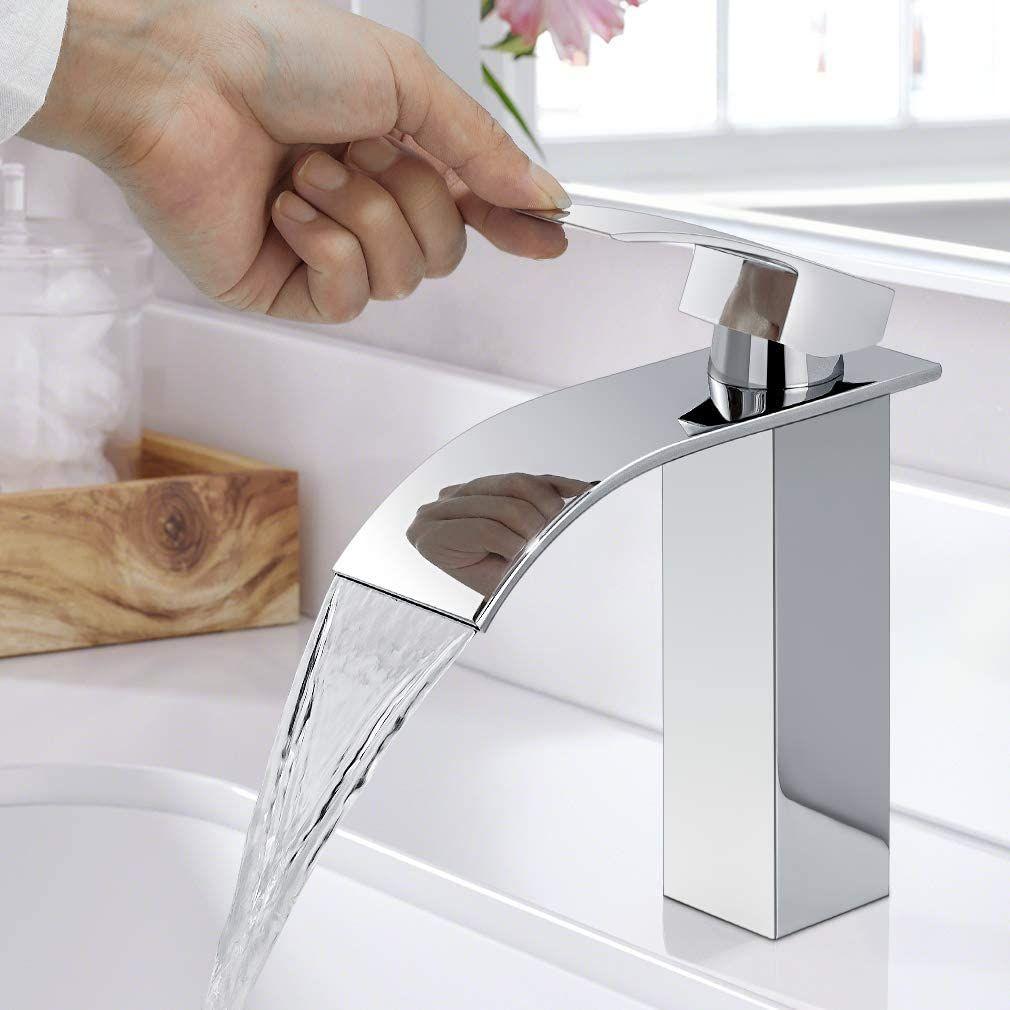 Wasserfall Wasserhahn Bad Woohse Einhand Waschtischbatterie Waschtischarmatur Mischbatterie Armatur Waschtisch In 2020 Waschtischarmatur Wasserhahn Bad Mischbatterien