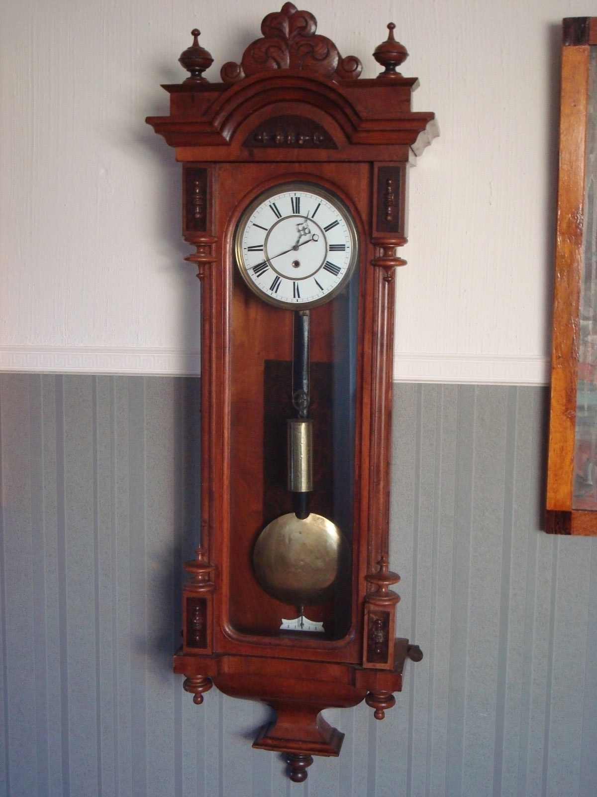 Wiener Regulator 1 Gewicht Um 19 Jhd Ebay Antique Clocks Clock Wall Watch