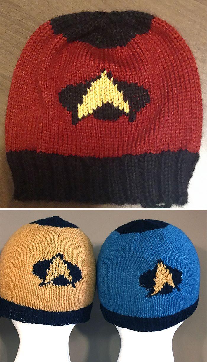 Free Knitting Pattern for To Boldly Go Hat - Star Trek inspired ...