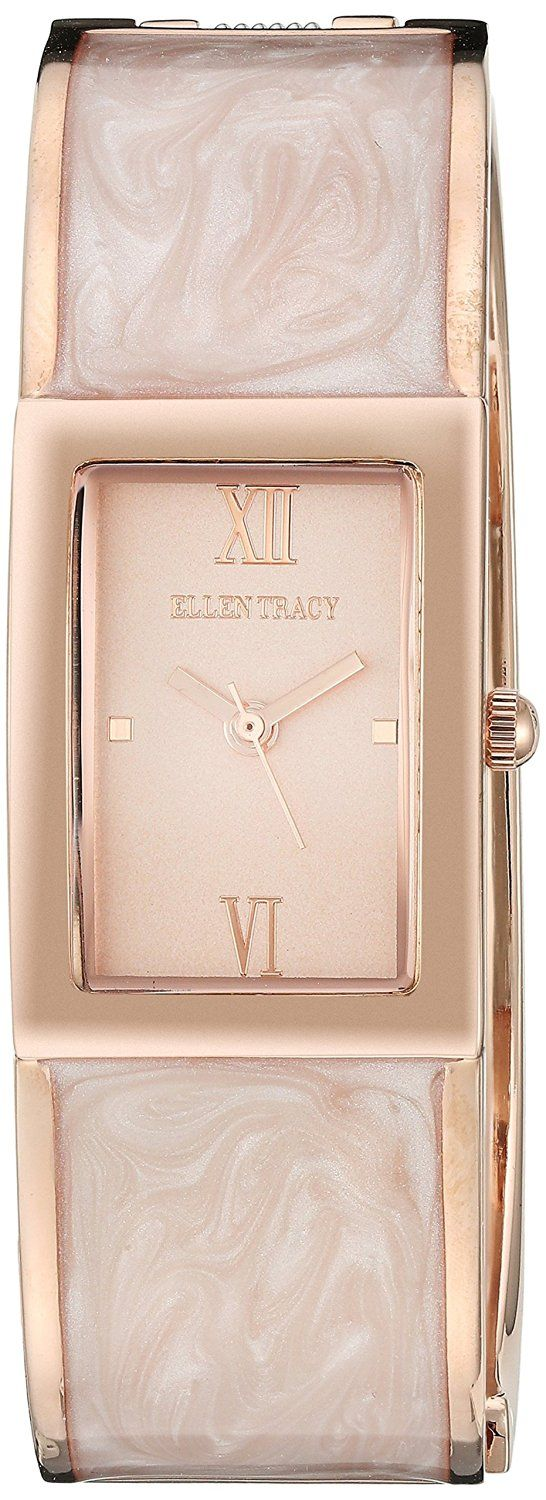 Amazon.com: Ellen Tracy Women's Quartz Metal and Alloy Automatic Watch…: