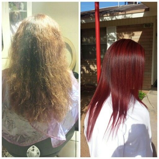 Red Haircolor Dark Intense Red Blonde Sally S Red To Blonde