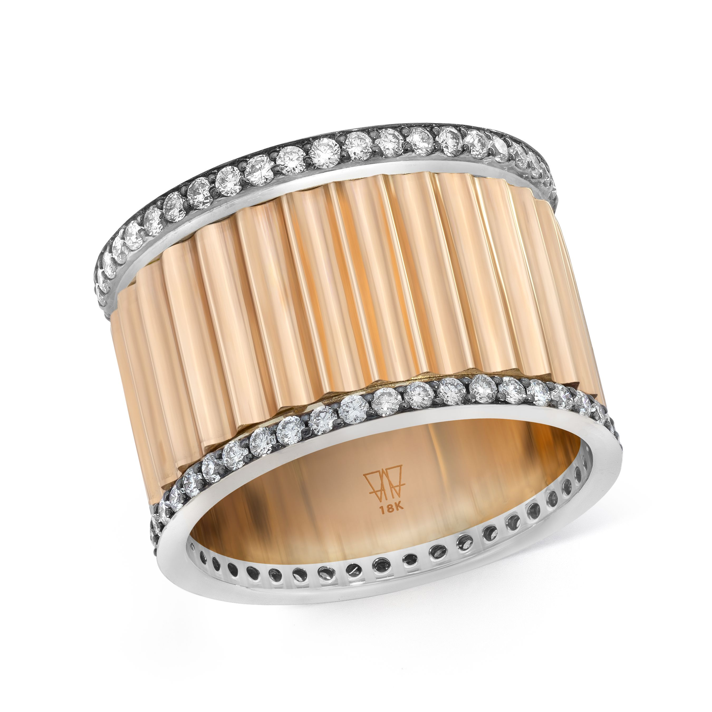 CLIVE 18K Rose Gold, 18K White Gold, Black Rhodium and