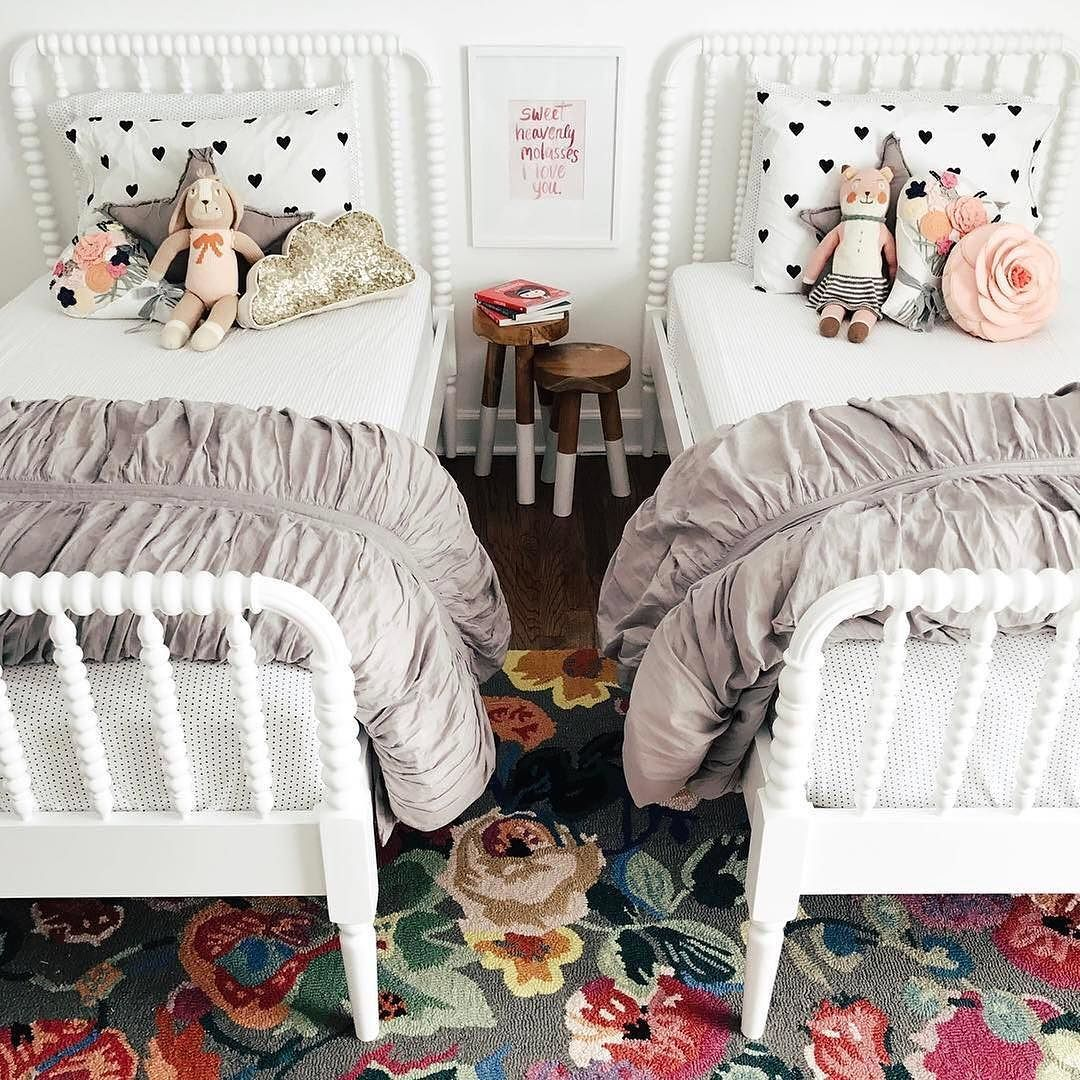 Repost From Jlgarvin Of Her Two Girls Cute Little Shared Bedroom Suzette And Belle Are Looking Mighty Co Shared Girls Room Shared Girls Bedroom Big Kids Room