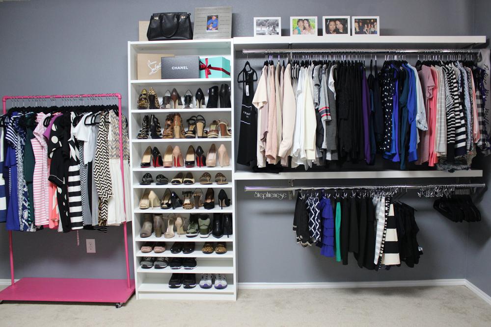 Dressing Room Update August 2015 Diy Walk In Closet Spare