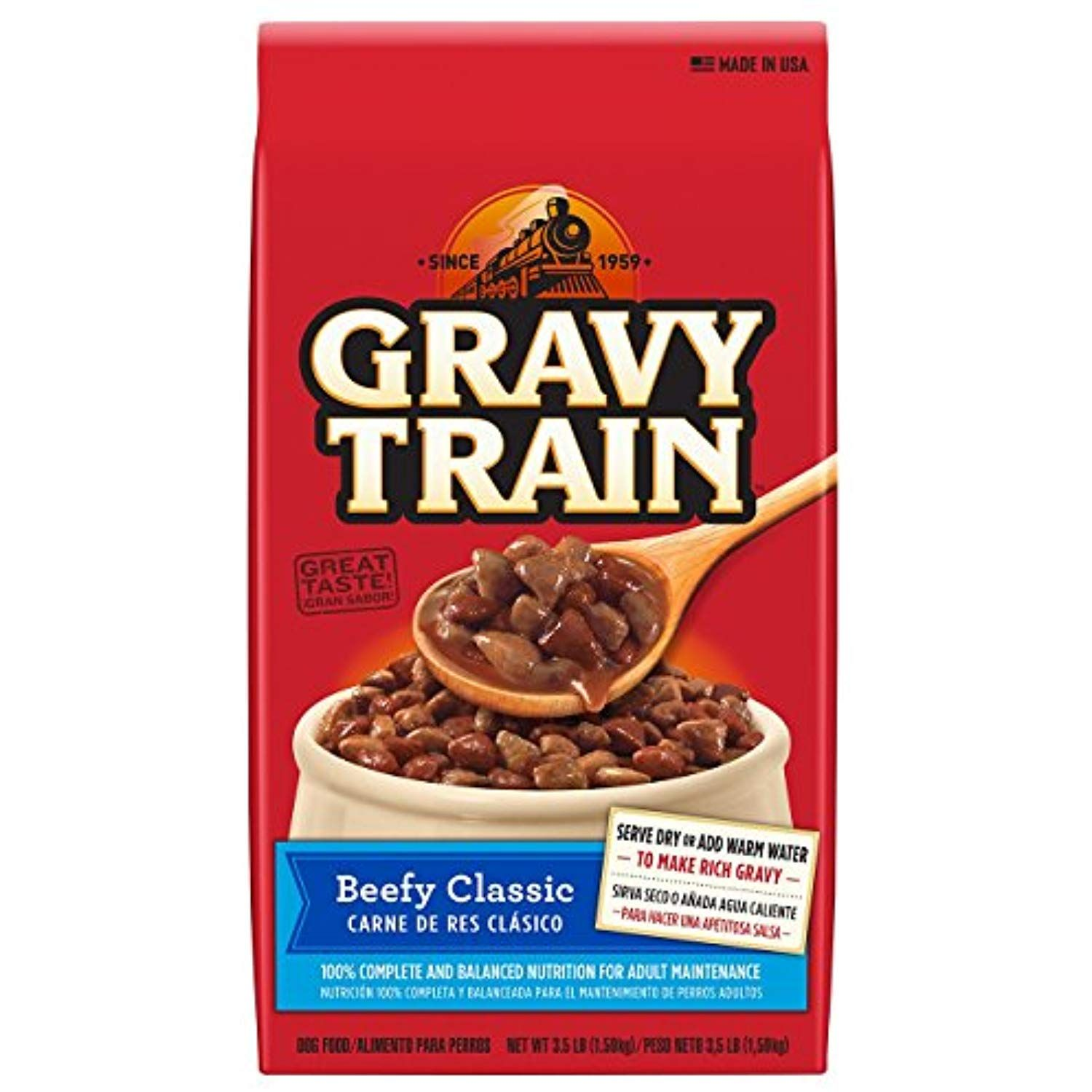 Gravy train beefy classic dry dog food 35 lb pack of 6