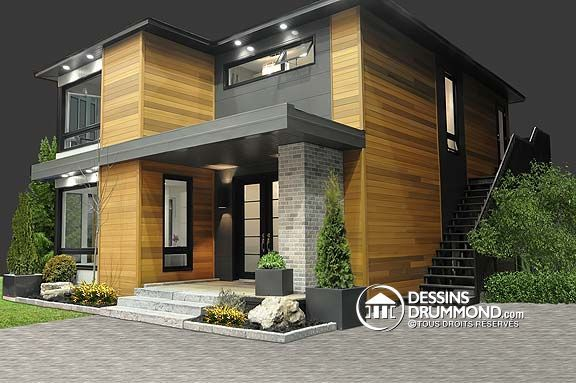 Maison de style contemporain plan no 3713 de dessins drummond photos intérieures à voir