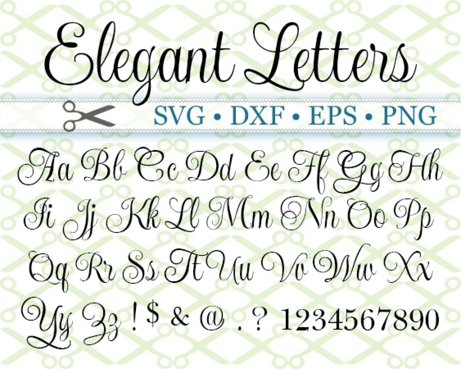 Elegant Script Svg Font