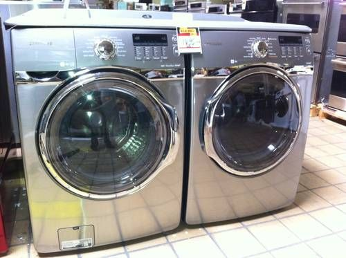 Samsung Stainless Steel Quot Platinum Quot Front Load Washer And