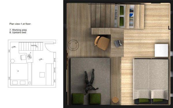 planos de casas pequenas para dos personas