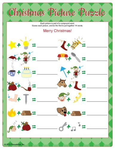 Christmas Picture Puzzle Plus More Fun Games For Your Holiday Gathering