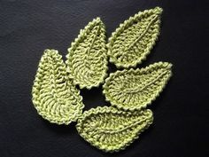 Crochet leaves with diagram patterns and pictorials #crochetleaves