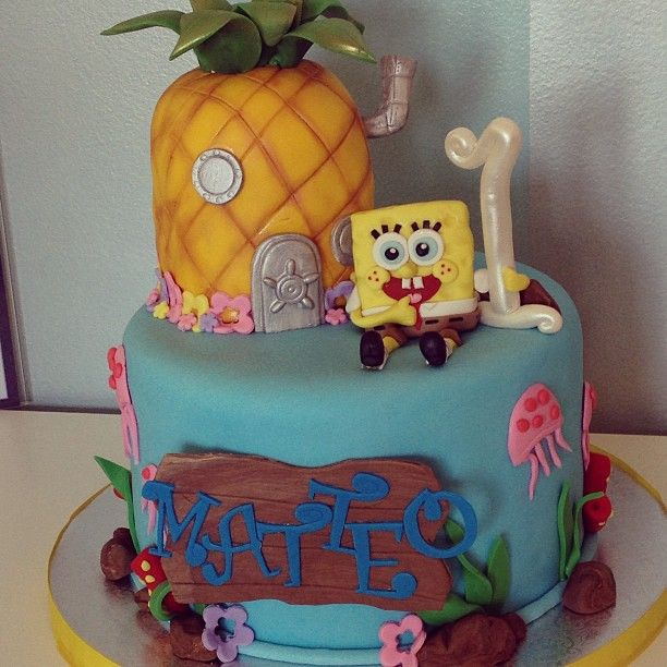 Katie Rosario on Instagram Spongebob Squarepants First Birthday