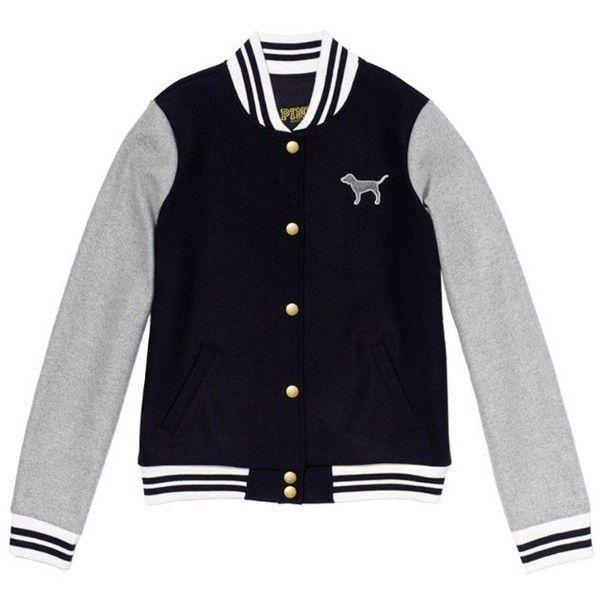 f6d5384c5f731 Victoria's Secret PINK Varsity Jacket ($89) ❤ liked on Polyvore ...