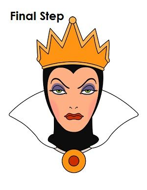 How To Draw The Evil Queen Draw Queen Drawing Disney Evil Queen