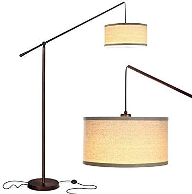 Brightech Hudson 2 Living Room Led Arc Floor Lamp For Behind The Couch Pole Hanging Light To