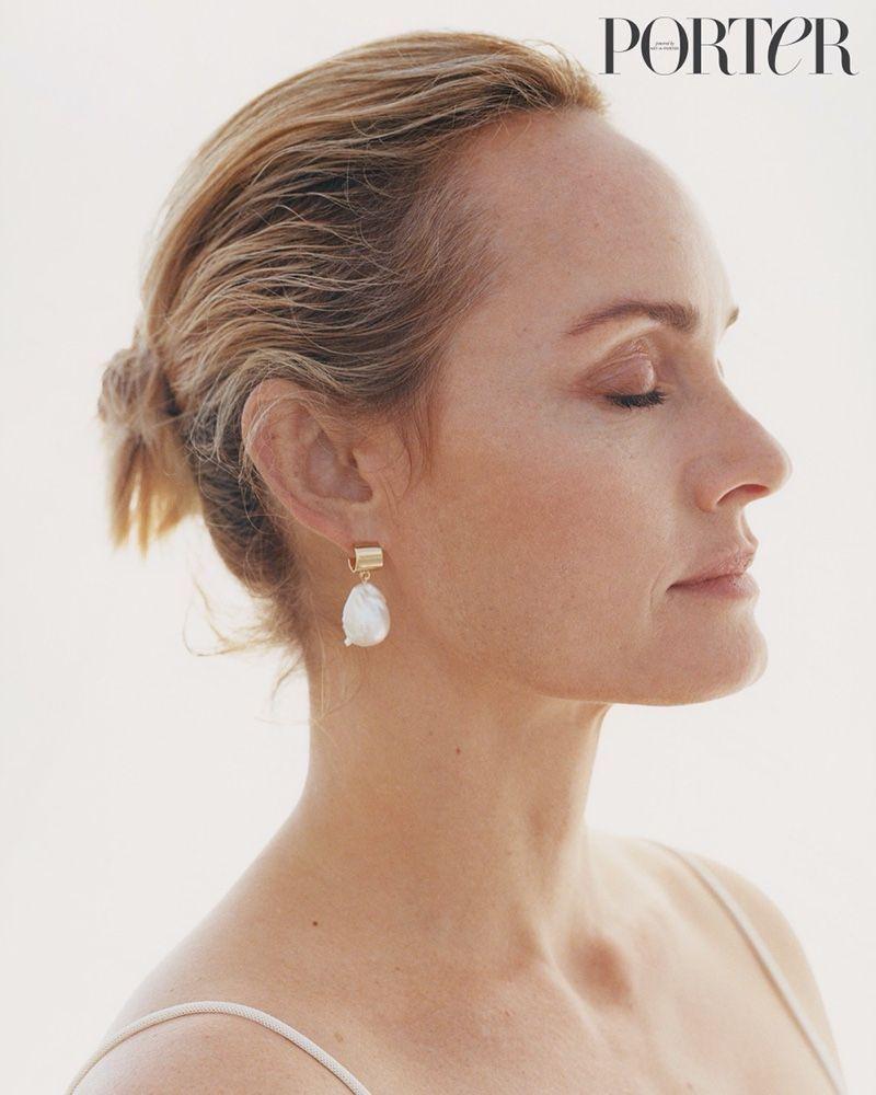 Photo of Amber Valletta PORTER Edit 2020 Beach Cover Fashion Editorial | pearl jewelry fa…