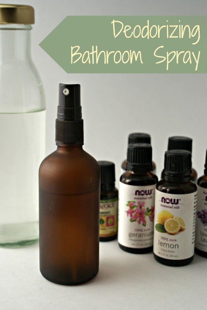 How to Make a Deodorizing Bathroom Spray • Heartful Habits