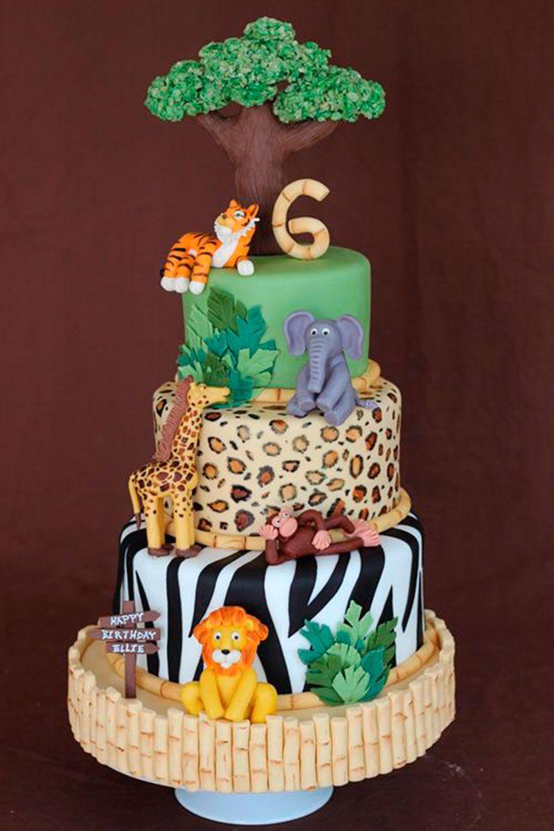 Super Festa Safari - 60 inspirações de decoração infantil | Cake  BT64