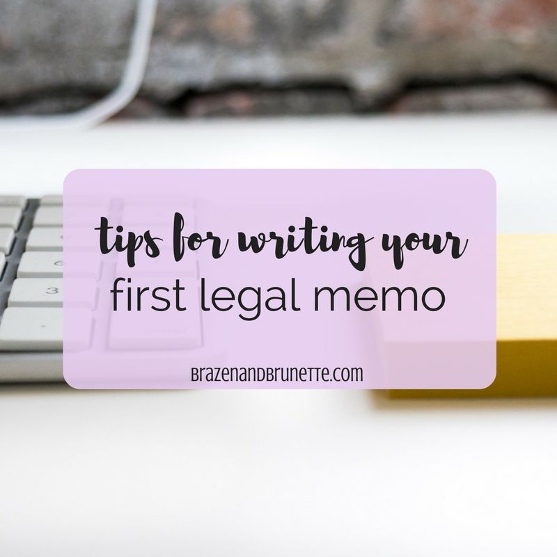 Legal Memo Tips  Students And School