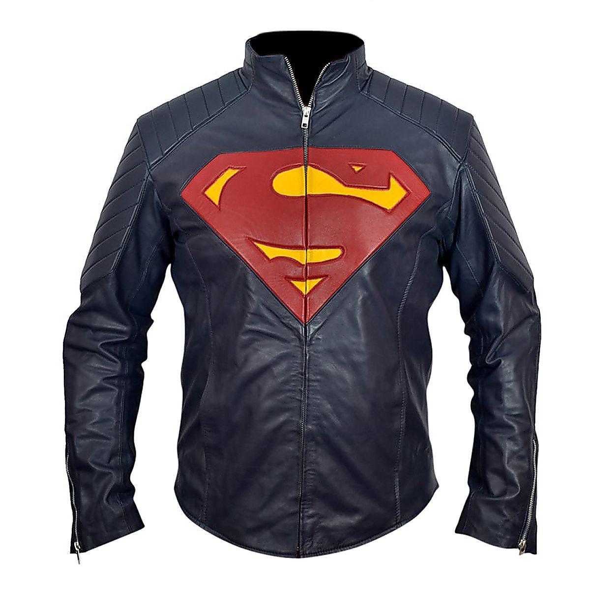 SUPER MAN JACKET FOR MEN,JACKET WOR.. Blue leather