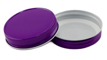 70 450 Purple Plastisol Ct Mason Jar Lid Purple Mason Jars Canning Lids Mason Jar Lids