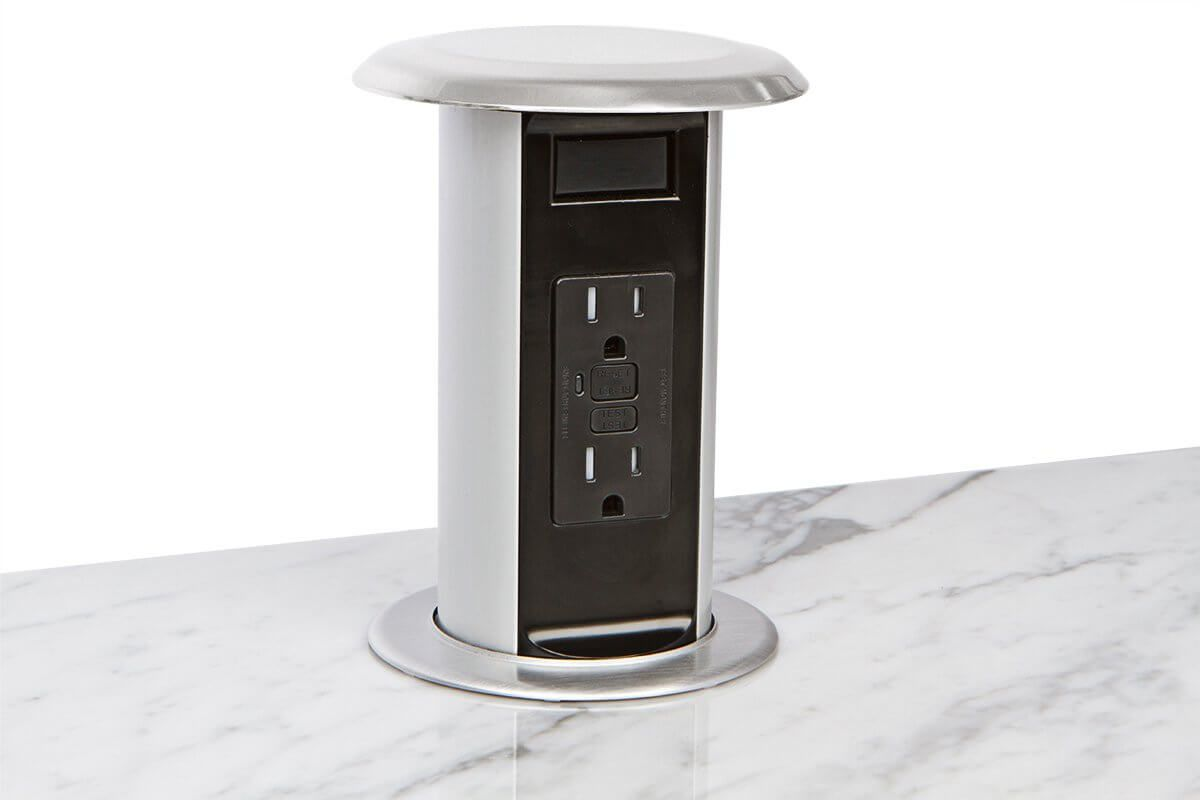 kitchen power grommet silver cabinet knobs pop up 15a countertop outlets in 2018 provides a safe and simple solution for adding convenient options to islands countertops