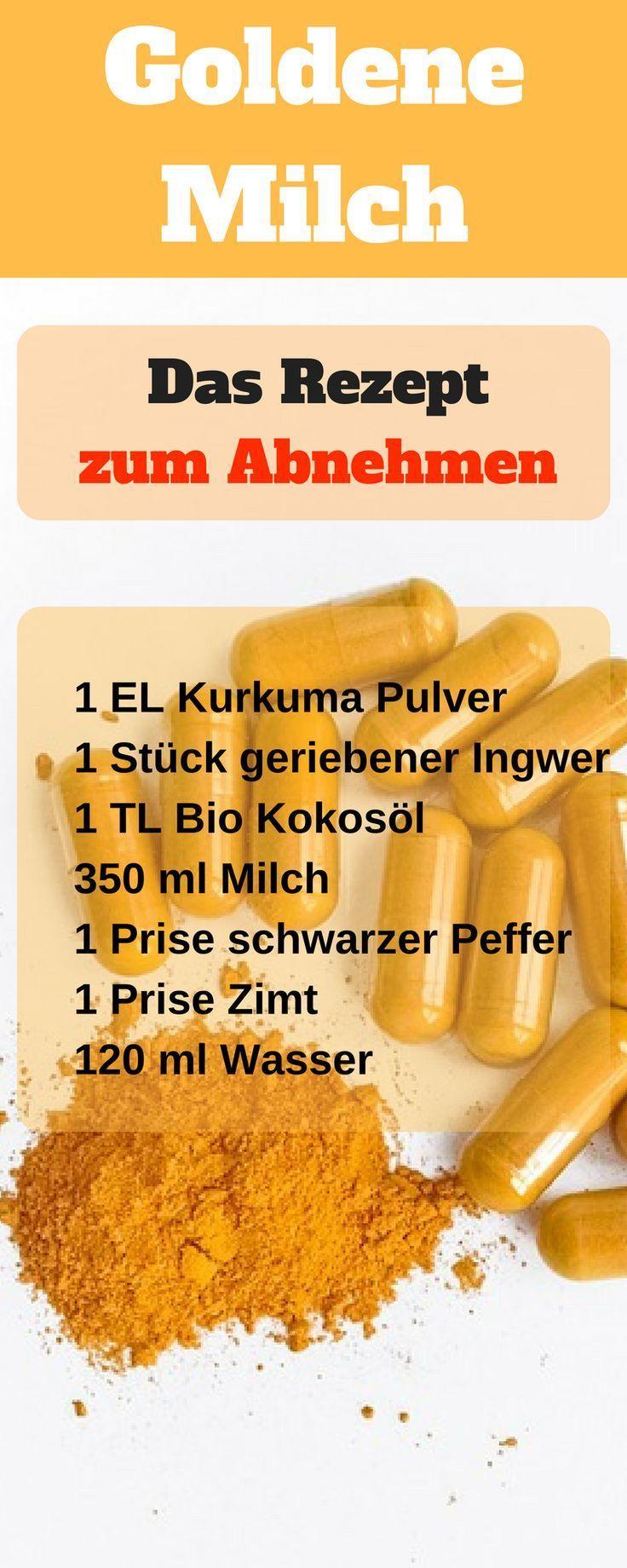 Golden milk recipe. Slimming golden milk, you want to lose weight with golden milk ...   - Schnell a...