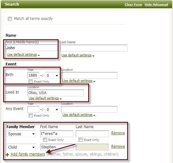 Did you know you can search without a surname? Click here