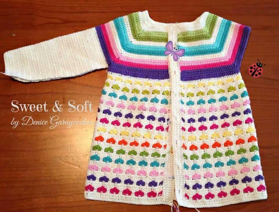 saco corazones | sacos crochet | Pinterest