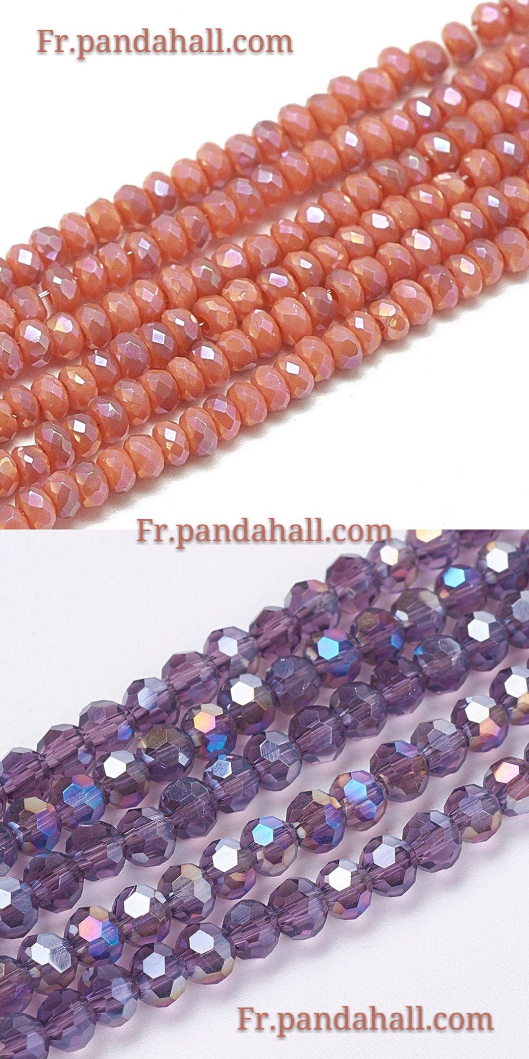 #Accessoires #bijoux - #perles en #verre électroplate multicolores. Cliquez le lien piur savoir plus. Inscrivez-vous pour obtenir #coupon de $5! #PandaHall #frPandaHall #bricolagebijoux #simple #faitmain #élégance #accessoire #perles #glass #beads #jewelry #DIY #mode