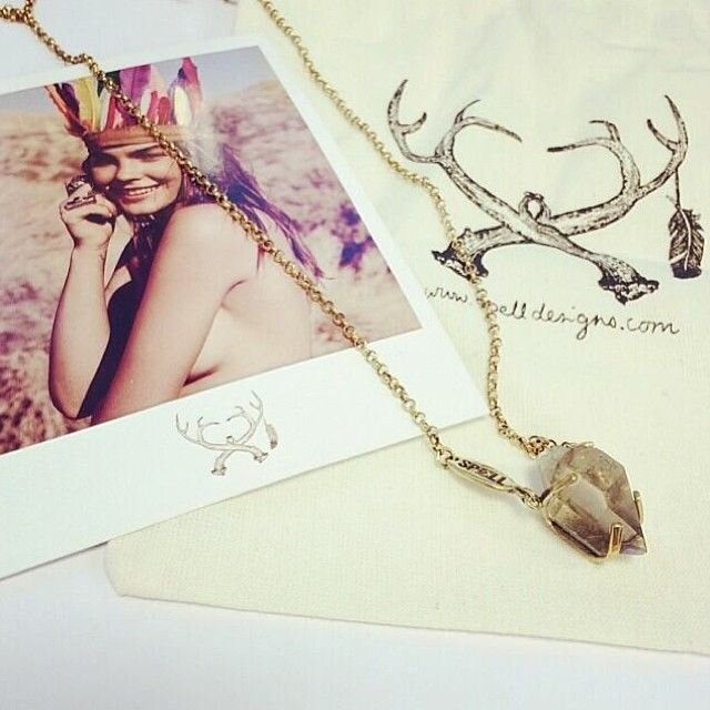 petite appalachian crystal necklace. spell and the gypsy ...