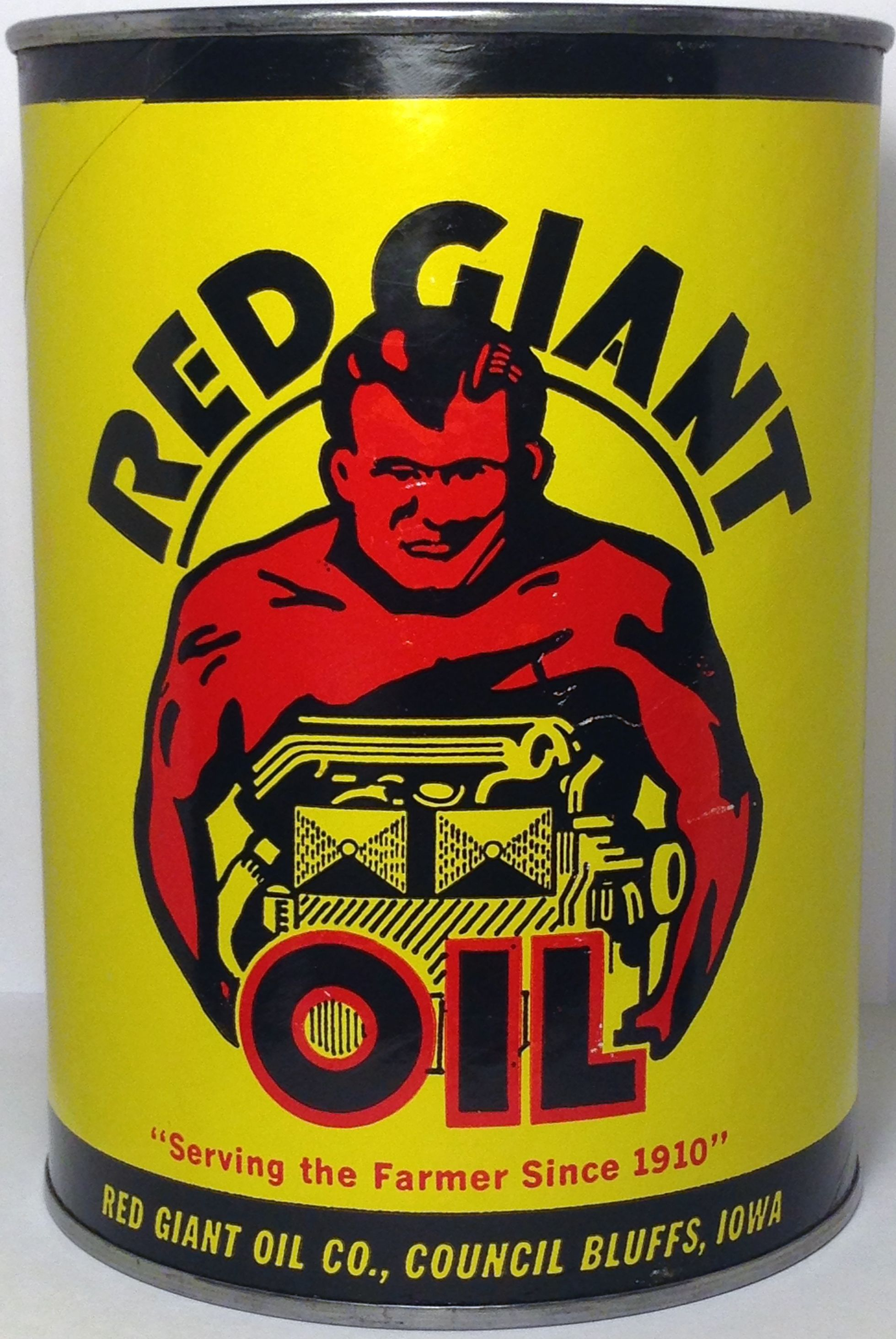 RED GIANT OIL CAN - FRONT | Collectible oil cans and other ...
