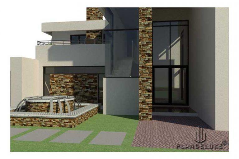 Double Story 4 Bedroom House Plan Modern House Plans Plandeluxe In 2020 Bedroom House Plans Modern House Plans House Floor Design