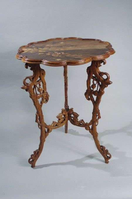 Emile Galle Table Le Merisier Musee De L Ecole De Nancy Meubles
