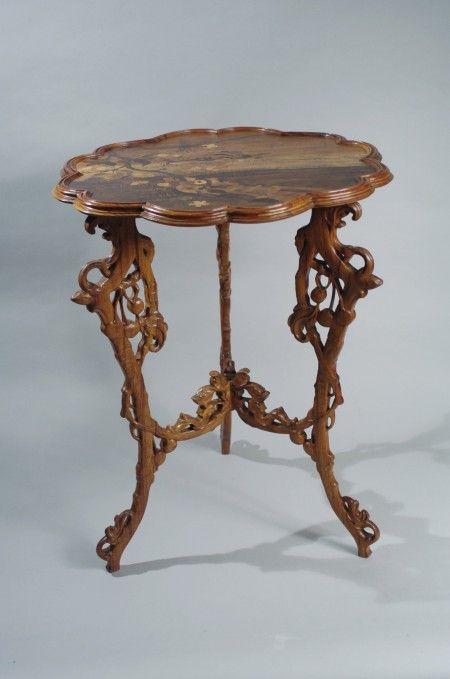 emile galle table le merisier musee de l 39 ecole de nancy meubles gall my home should be a. Black Bedroom Furniture Sets. Home Design Ideas