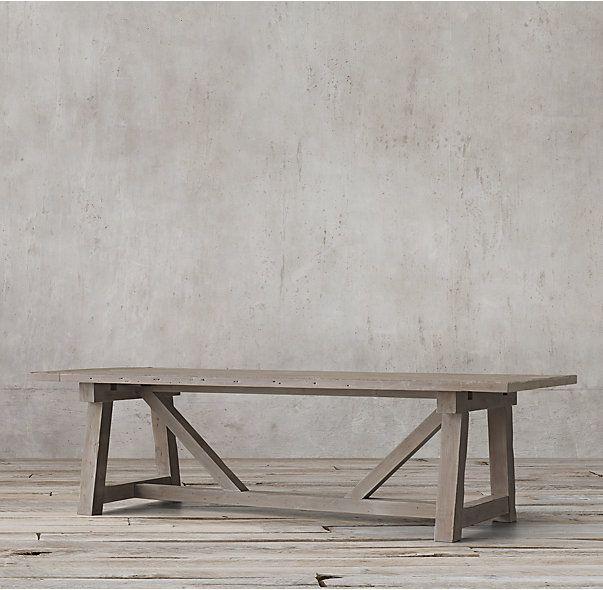 Salvaged Wood Beam Rectangular Extension Table Wood Beams Salvaged Wood Extension Table